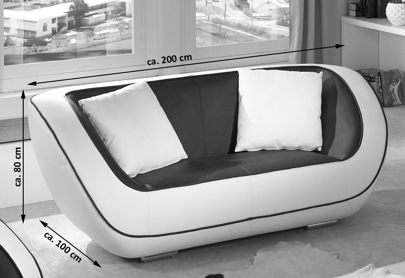 sale couch 2 sitzer sofa in schwarz weiss navarra